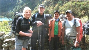 Guide n porter with guest